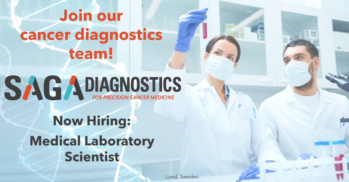 Job opening: Medical Laboratory Scientist in molecular