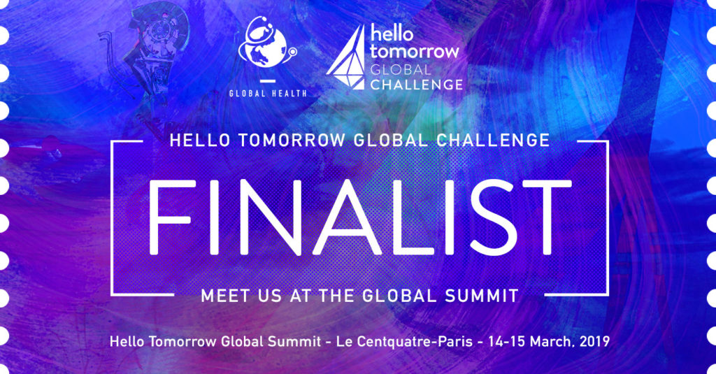 Selected as Top 7 Start-Up Finalist in 'Hello Tomorrow' Global Heath